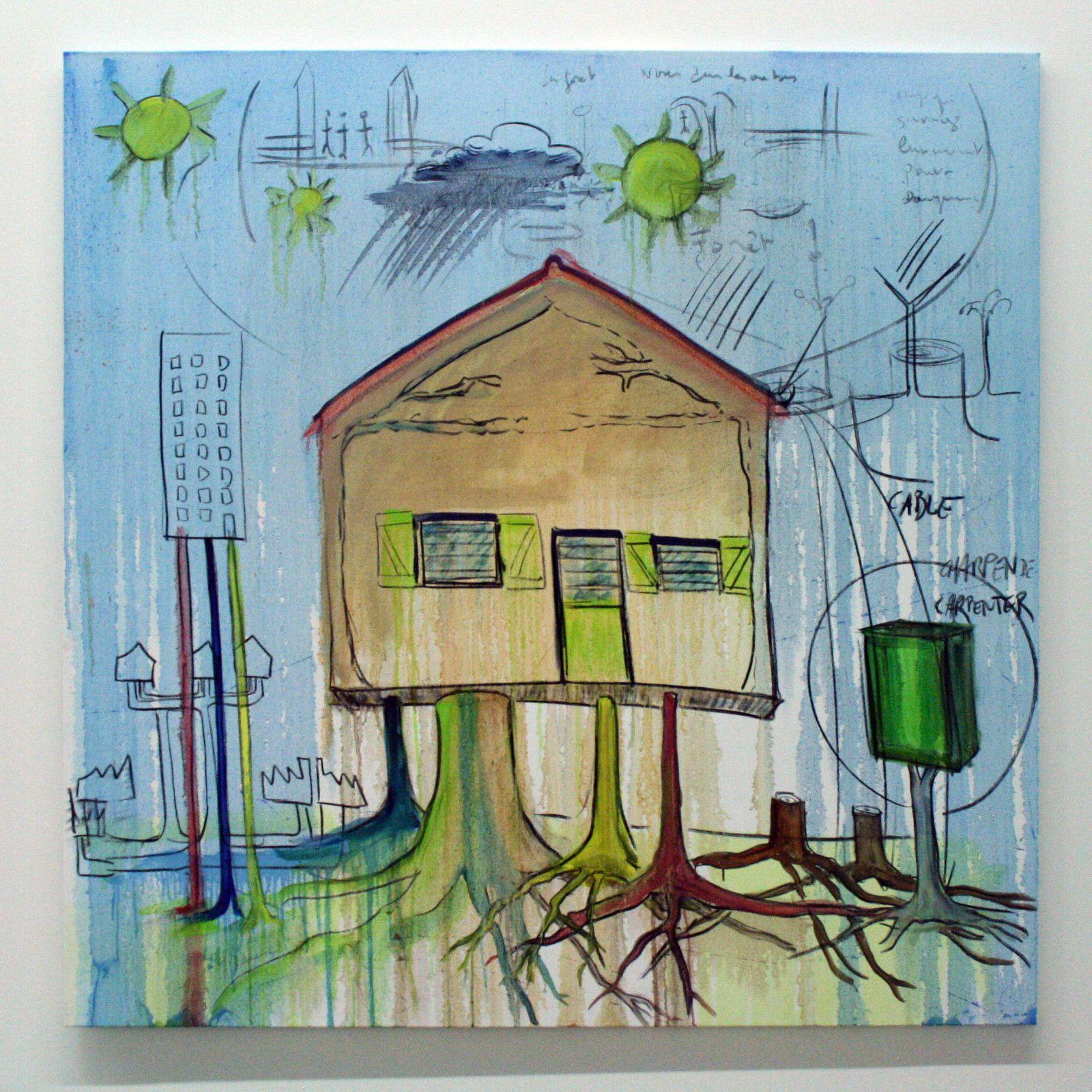 """""""Cables"""", 2020 de Fabrice HYBER - Courtesy de l'artiste et de la Galerie Nathalie Obadia © Photo Éric Simon"""