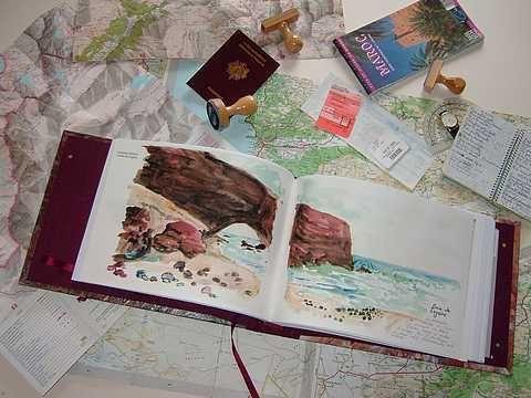 Album - création d'un carnet de voyage
