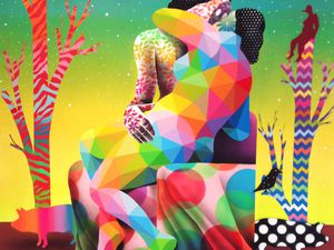 The piety of the birds god / The kiss between the earth & sky - © Okuda