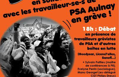 PSA Aulnay : jeudi 28/02 soirée de solidarité à l'Université Paris 8/St-Denis (débats et concerts)
