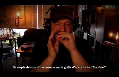 Exemple de solo possible sur la grille d'accords de ''Cocaïne''