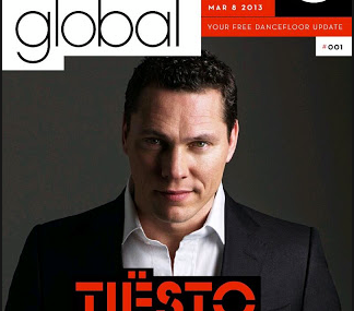 Tiësto for the first cover MixMag Global, interview Q&A