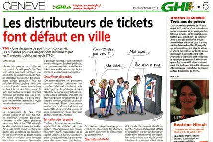 Distributeurs de tickets à Genève