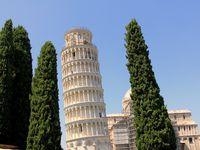 La cathédrale et la tour de Pise sur la Piazza del Duomo - Pise - Eté 2013