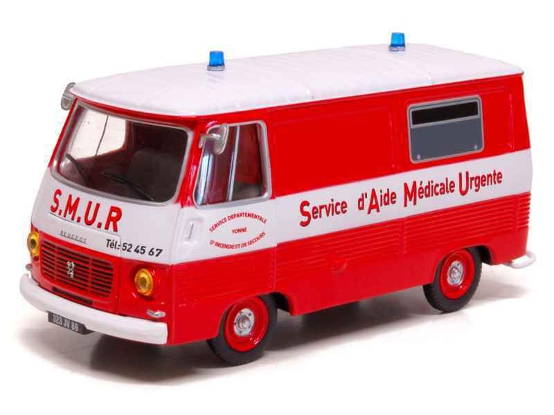 Peugeot J7 SMUR des sapeurs-pompiers d'Auxerre (Eligor, 1/43, réf : 101404)