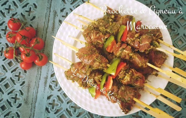 Brochette d'agneau à la marocaine