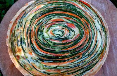 La tarte tourbillon de légumes