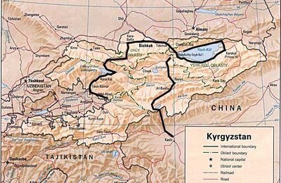 Notre itinéraire au Kirghizistan