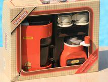 Cafetière et moulin à café orange Berchet Années 70 - Vintage