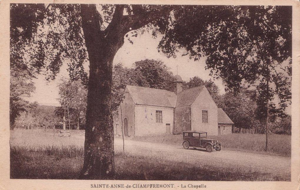 Cartes postales anciennes de la chapelle Sainte-Anne de Champfrémont (de 1898 à 1931).