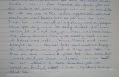 AFPS : Réponses de prisonniers