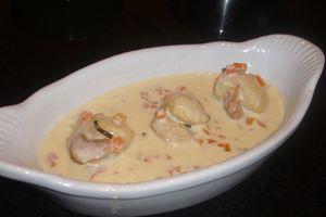Noix de Saint-Jacques sauce au safran