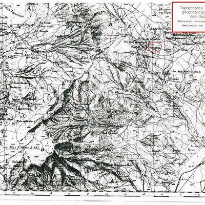 Topographie et distribution géographique du peuplement villageois des Ouzellaguen