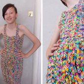 Cette robe en Rainbow Loom coûte plus cher que votre voiture