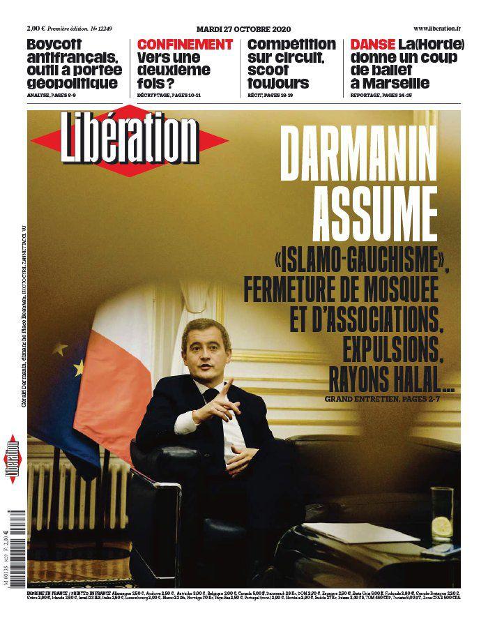 La UNE des quotidiens nationaux ce mardi 27 octobre.