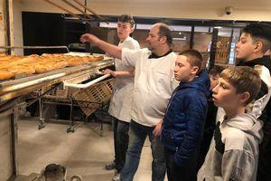 """En visiteà la boulangerie du quai, pour l'opération """"Galette"""""""