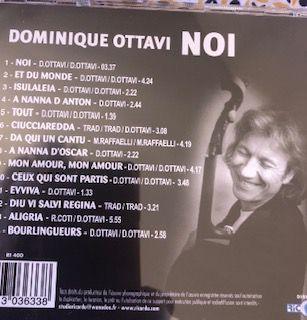 NOI : sortie du nouvel (le 17ème) album de Dominique Ottavi