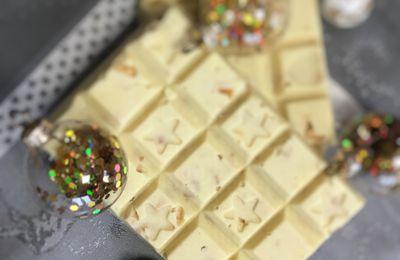 Tablette chocolat blanc noix de coco cornflakes façon galak
