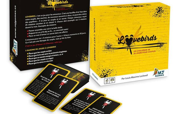 Lovebirds un jeu pour les amoureux avec MJ GAMES