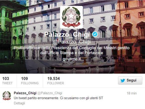 Palazzo Chigi lancia tweet trombati eccellenti (Foto gallery)
