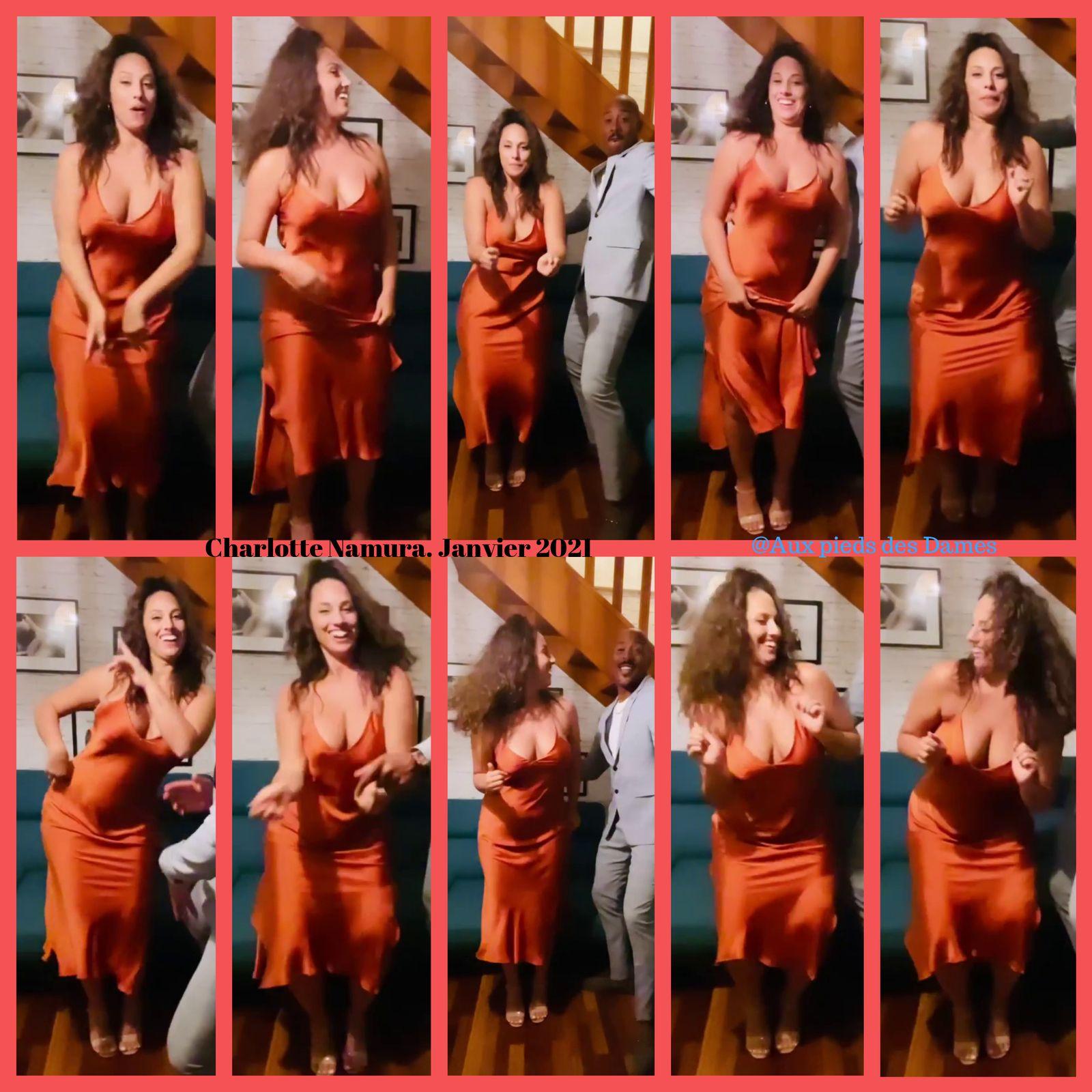 Charlotte Namura le 24 janvier 2021. Danse sur Instagram