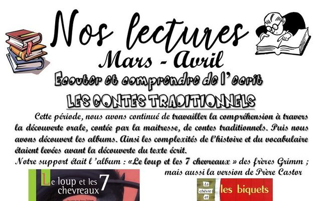 Nos lectures Mars-Avril (P.4)
