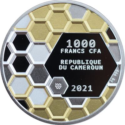 1000 francs CFA Bee Yourself 2021 République du Cameroun