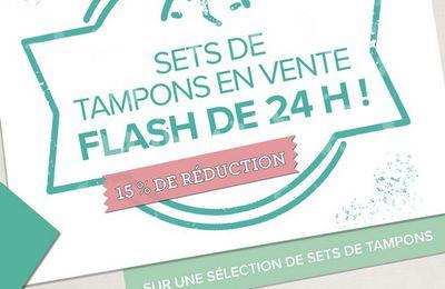 Vente flash sur les tampons !