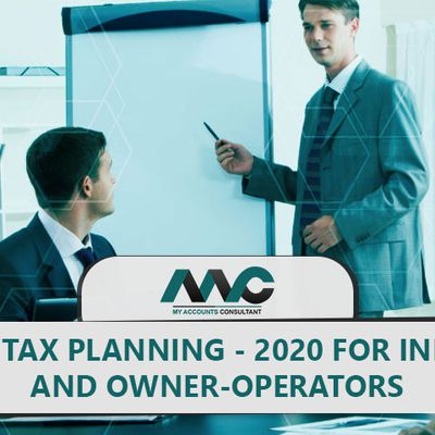 Year-end tax planning - 2020: For individuals and business owner