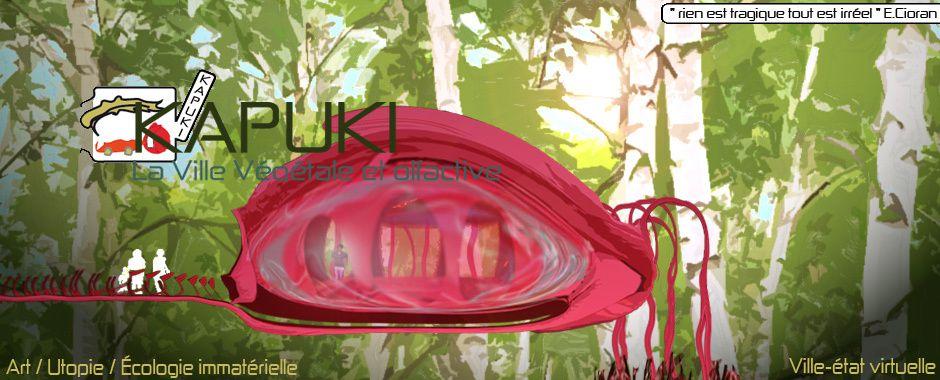 kapuki ville état immatérielle, la cité végétale et florale, exposition béziers de lili-oto architecture florale de maison, post écologisme