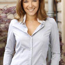 Claire Barsacq-chemisier gris et blanc