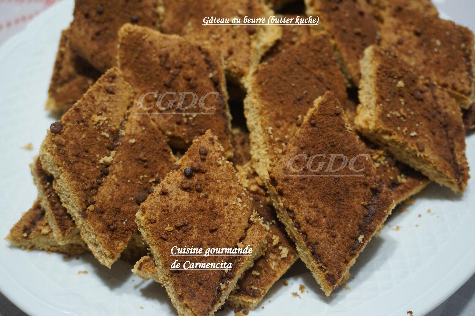 Gâteau au beurre ou butter kuche