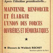 HISTOIRE : Le rôle du PCF dans l'élection présidentielle de 1965