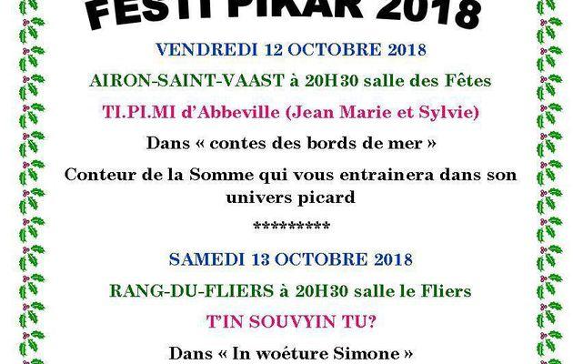 LE FESTI PIKAR 2018... A DÉCOUVRIR  DU 12 OCTOBRE AU 2 DECEMBRE...