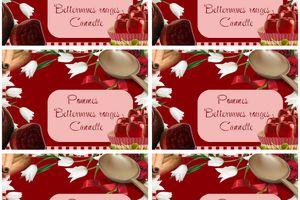 Etiquettes confiture ~ Pommes Betteraves~