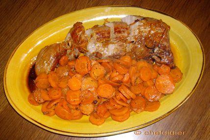 Filet mignon à l'orange - Carottes au thym