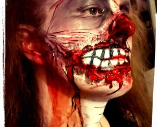 HALLOWEEN maquillage zombie 😁😉😜