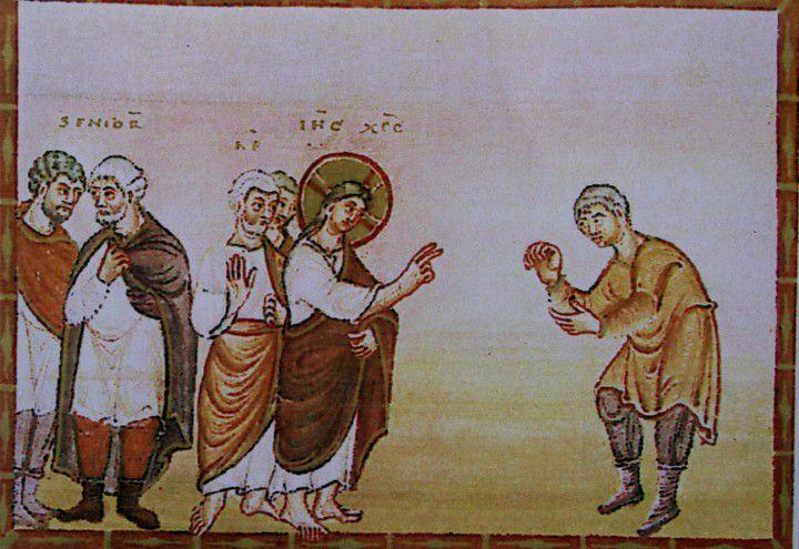 évangéliser d'Egbert de Trèves, guérison du lépreux