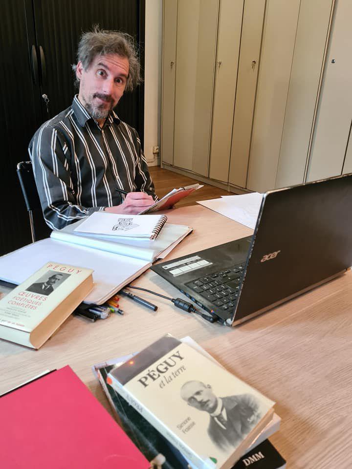 Stanislas GROS résidence d'écriture bande-dessinée au Centre Charles Péguy
