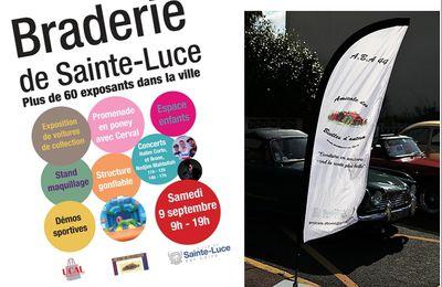 9 Septembre 2017:  Exposition  à  la  braderie  annuelle   des commerçants  de  Ste  Luce  sur  Loire.