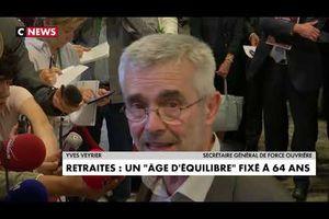 Yves Veyrier, secrétaire général de FO : « N'oubliez pas que l'espérance de vie en bonne santé c'est 63 ans »
