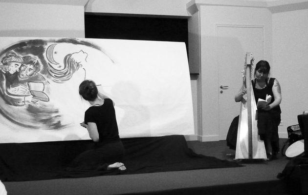 Bottes de 7 lieux à la médiathèque : un concert dessiné avec Mandragore et Laetitia Rouxel