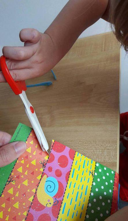 Apprendre à découper, faire des mosaïques et perforer