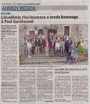 Hommage à Paul Guichonnet par l'Académie Florimontane