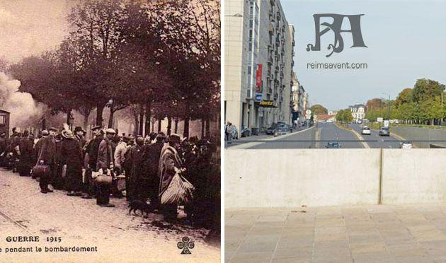 1915 - Les Rémois quittent la Ville avec le C.B.R.
