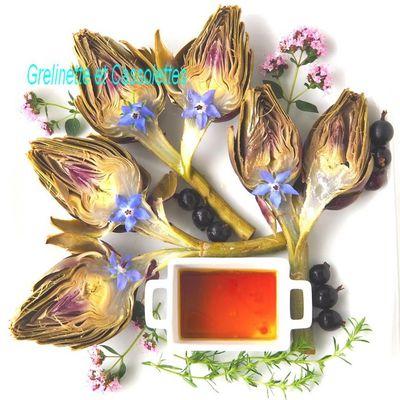 Artichauts Poivrade à la Vapeur, Condiment de Caseilles