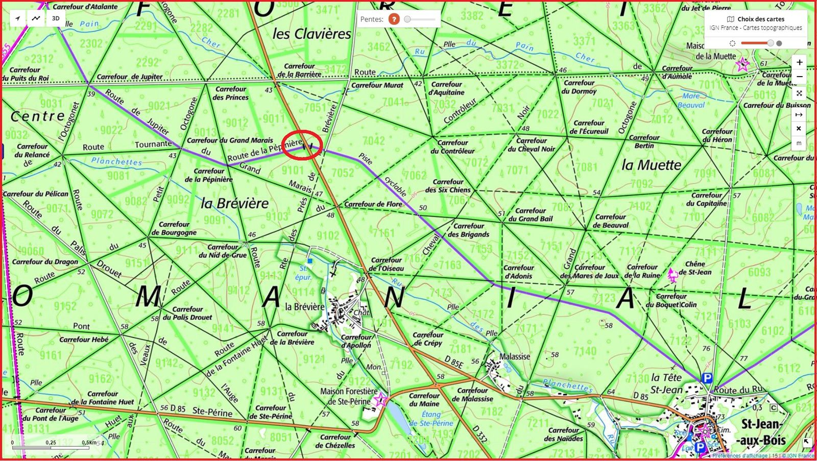 carrefour_Route de la Pépinière_D332