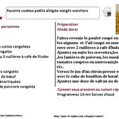 Paëlla weight watchers au cookeo : la fiche |