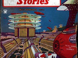 Couverture de Wonder Stories de Juillet 1934 et illustration intérieure de l'Odyssée martienne par Frank R. Paul