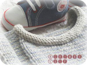 Modèles Idéal n°162. Marinière coton lin.